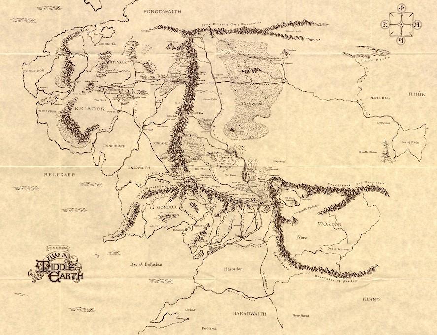 魔戒 中土地图